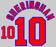 World Cup 1998 Sheringham 10 England Home Football Name set for National shirt