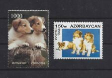 Art / Photo Dog Body Portrait Postage Stamp Rough Coated Collie Puppies 2 x Mnh