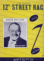 THE FAMOUS 12th STREET RAG Pee Wee Hunt / Sheet Music