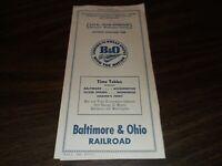 JUNE 1950 B&O BALTIMORE & OHIO BALTIMORE WASHINGTON LOCAL  PUBLIC TIMETABLE