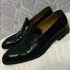 6b5e18c525395 Louis Vuitton Mens Loafers LV 6.5 US 7.5 Slip On Dress Shoes Black Leather  Italy