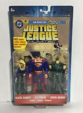 JUSTICE LEAGUE UNLIMITED SUPERMAN BLACK CANARY GREEN ARROW DC ACTION FIGURES NIB