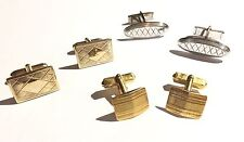 Vintage Lot 3 Pairs of Men's Cufflinks - Swank, Anson, Pat Pend