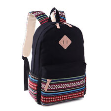 Women Canvas Backpack Hiking Travel Rucksack Shoulder School Outdoor Loose Bag