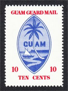 Guam Guard Mail Local Post 1976 #1 First Issue Repro of 1930 Stamp Blue Seal MNH