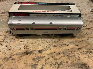 LIONEL O GAUGE MODEL RAILROAD AMTRAK ILLUMINATED BAGGAGE CAR 16033 NIB