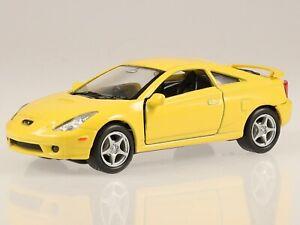 Toyota Celica 2002 gelb Modellauto 42327 Welly 1:37