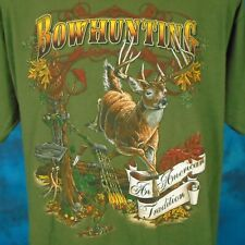 vintage 90s DEER BOW HUNTING T-Shirt XL buck archery knife arrow nature soft