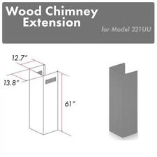 Zline Wood Wall Chimney Extension for 12.5 ft ceiling for model 321Uu-E