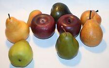 Pretend Faux Food Fruit Pears Apples Wooden Plastic Decoration Prop
