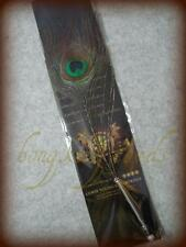 = S Peacock Feather Wedding Pen Guest Book Pen Plume Quill Register Collectable