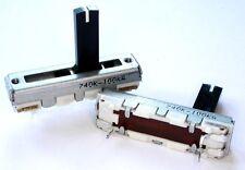 4 Stück ALPS Schiebepotentiometer 15mm Knopftyp 100kOhmA pos. log.