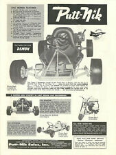 Vintage Beautiful Putt-Nik Demon, Phantom Go-Kart Ad