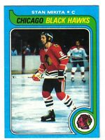 1979-80 Topps  Hockey Card #155  Stan Mikita Chicago Blackhawks ~  EX/MT