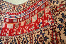 COLLECTORS' PIECE Stunning Helicopter Soviet Afghan War Rug,Kabul City Wall Rug