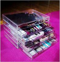 Large CosmeticJewelry clear Acrylic case 5 Multipurpose drawer Organizer Box