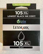 NEW GENUINE - LEXMARK 105 XL BLACK INK CARTRIDGE 105XL - FACTORY SEALED BOX