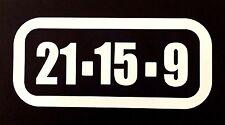 Crossfit style 20 .15 . 9 Car Sticker 16cm x 7cm Iphone Ipad Art Wod  Amrap Fran