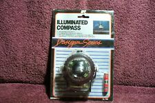 VTG NOS 50 60s 70s RALLY DECO LITED DASH COMPASS  AUTO TRUCK GM VW  ACCESSORY