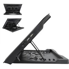 "15"" Laptop Cooler Cooling Pad Base USB 2 Fans Adjustable Angle Mounts Stand GS"