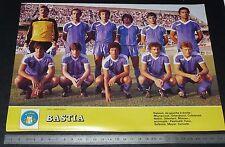 CLIPPING POSTER FOOTBALL 1985-1986 SEC BASTIA SECB FURIANI CORSICA