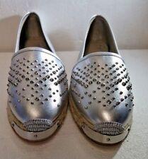 Giuseppe Zanotti, Espadrilles, Metal/Silver, E66068, US 9, EUR 40