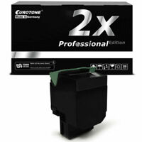 2x Pro Toner Black for Lexmark X-544-DN X-544-DTN X-544-N X-544-DW X-548-DTE