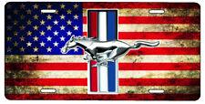 New Custom American Flag Ford Mustang Vanity License Plate