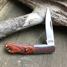 "3 3/8"" Closed Rich Wood Grain Barlow One Blade Folding Pocket Knife New! 217"