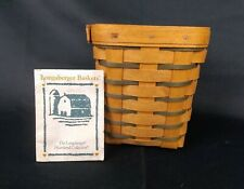 Longaberger 1996 Heartland Collection Small Spoon Basket w/ Plastic Protector
