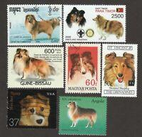 SHETLAND SHEEPDOG **Int'l Dog Stamp Art Collection** Unique Sheltie Gift **
