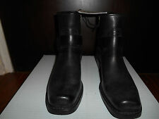 Frye 76247 Black Leather Harness Boots Zip On Boot 9 1/2 10 Motorcycle New USA