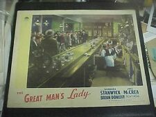 THE GREAT MAN'S LADY, orig 1941 LC [Joel McCrea and Brian Donlevy about to draw]