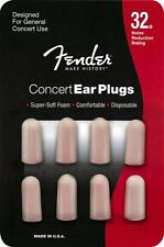 Fender Foam Ear plugs,Concert - 4 Pairs.32-Decibel Noise Drop P/No:- 099-0541000