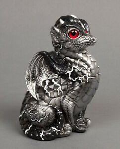 """Windstone Editions """"White Lightning"""" Fledgling Dragon Test Paint #1"""