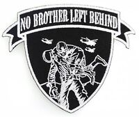 NO BROTHER LEFT BEHIND PATCH WOUNDED WARRIOR LEAVE NO MAN MILITARY VETERAN