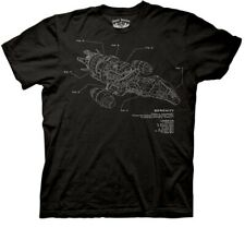 Firefly Tv Series / Serenity Movie Ship Diagram with Legend T-Shirt Sm New