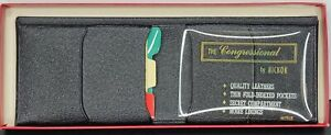 The Congressional by Hickok Wallets for Men Vintage 1960's Genuine Pigskin
