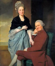Dream-art hand painted Oil painting george romney - Mr and Mrs William Lindow