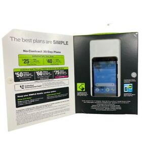 """SIMPLE Mobile TCL A1 Prepaid Cell Phone 4G LTE 5"""" Touchscreen - Brand New!!"""