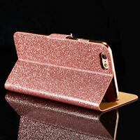 Flip Glitter Shockproof Leather Wallet Stand Case Cover for iPhone6 6s Plus Skin