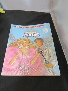 Vintage Golden 1990 Super Star Barbie Coloring Book Paperback Unused