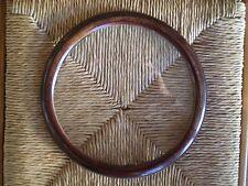 CADRE ROND ANCIEN VITRE BOIS VERNI ENCADREMENT ART DECO DIAMETRE 22cm