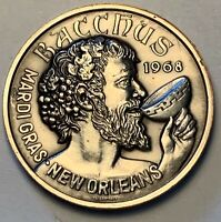 1968-1971 BACCHUS NEW ORLEANS MARDI GRAS CHOICE DOUBLOON BACCHUS SALUTES (MR)