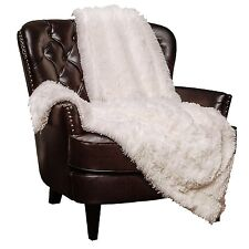 "Throw Blanket Soft Long Shaggy Fuzzy Fur Faux Warm Fluffy Sherpa White 50""x65"""