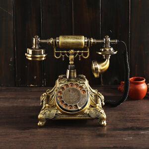 Retro FSK/DTMF Vintage Haustelefon Antik Tischtelefon Nostalgie Tisch Telefon