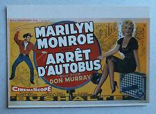 CP DU FILM - BUS STOP - ARRET D AUTOBUS AVEC MARILYN MONROE - NUGERON E33 *