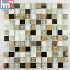 mosaïque San Magno VERRE PIERRE NATURELLE métal carreau / mat 29,5 x 0,8 cm