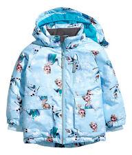 NEU H&M Elsa Kinder Wattierte Winterjacke Jacke Gr.86 92 hellblau/ Frozen Hose
