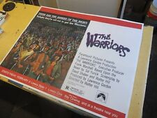 Original THE WARRIORS Linenbacked New York Subway Poster Beck Remar Walter Hill